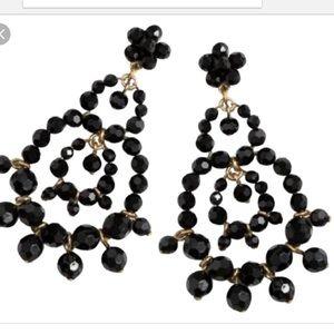 Jcrew Black rumba Earrings NWT